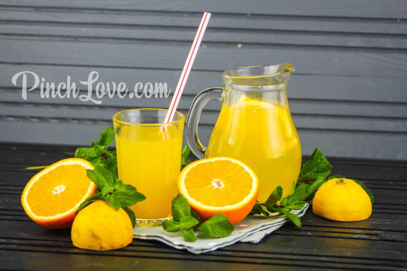 Апельсиновый лимонад с лимоном