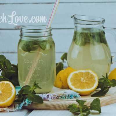 Лимонад из лимона и мяты - домашний