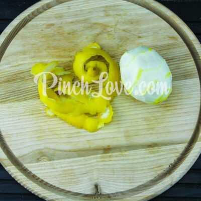 Апельсиновый лимонад с лимоном - шаг 1-2