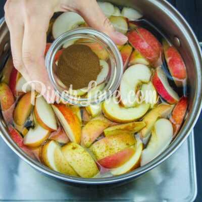 Яблочный компот с корицей - шаг 3-2