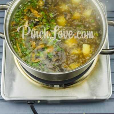 Грибной суп из шампиньонов - шаг 7-2