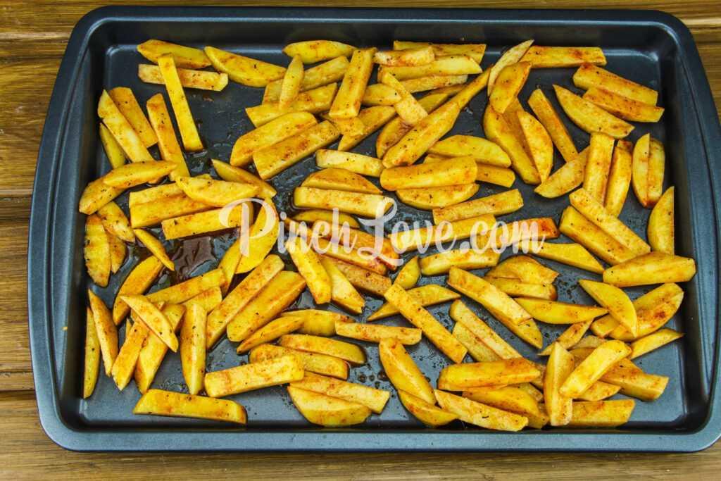 Шаурма с курицей и картошкой - шаг 5
