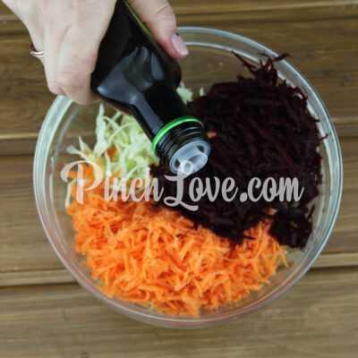 Овощной салат «Щетка» - шаг 2-2