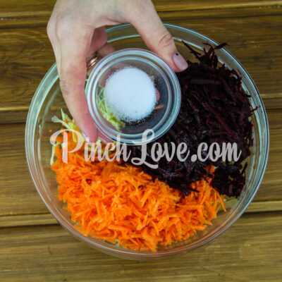 Овощной салат «Щетка» - шаг 2-3