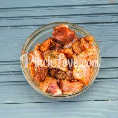 Рагу из свинины, картофеля и тыквы - шаг 1-2