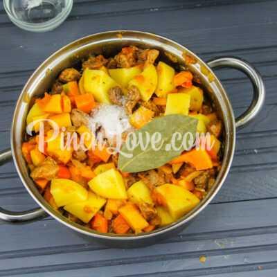 Рагу из свинины, картофеля и тыквы - шаг 8-1