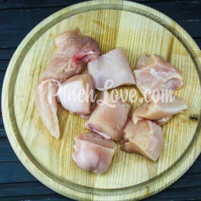 Куриный шашлык в маринаде из соевого соуса - шаг 1-1