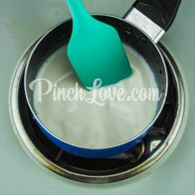 Ванильное мороженое - шаг 1-2
