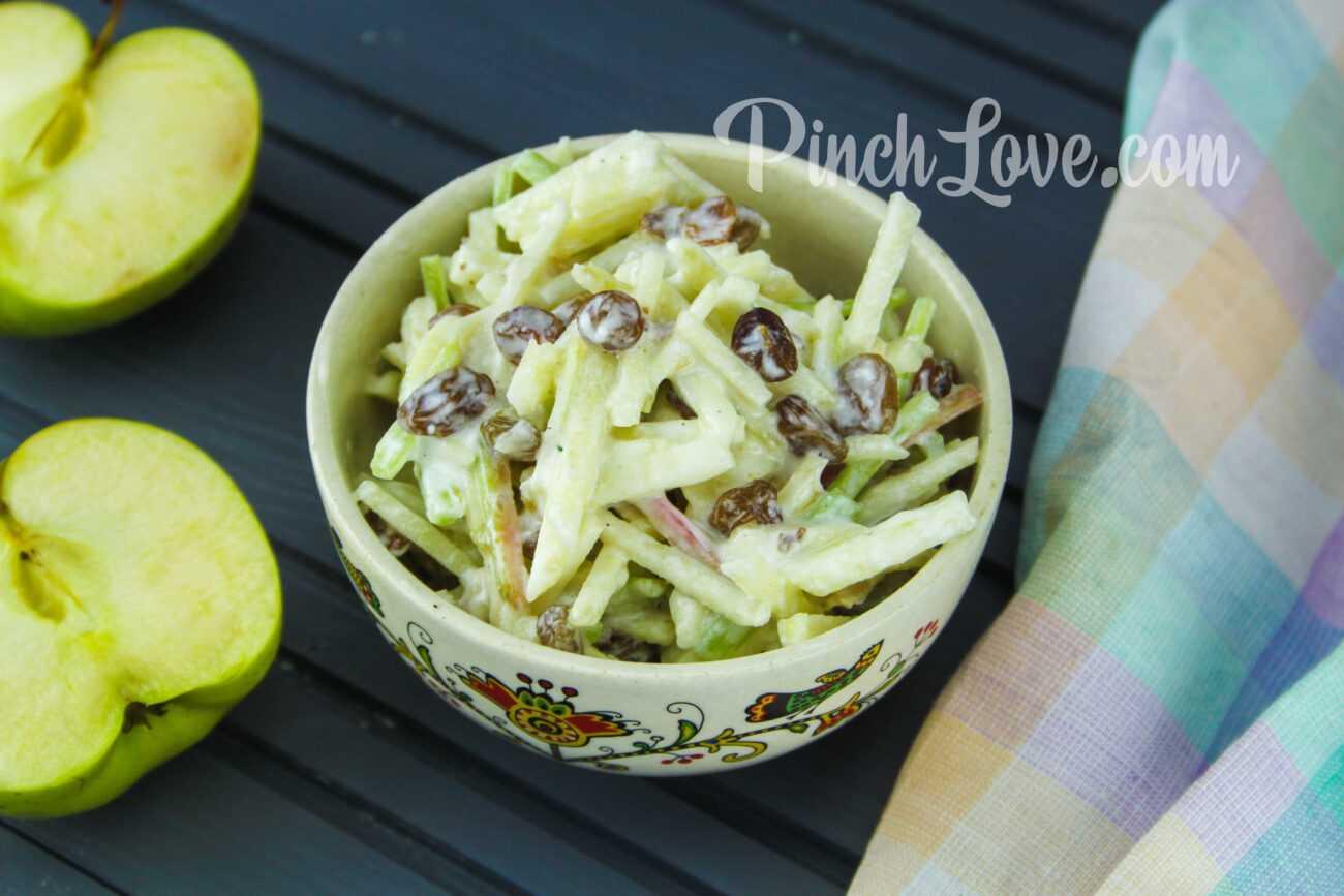 Салат с ревенем и яблоком