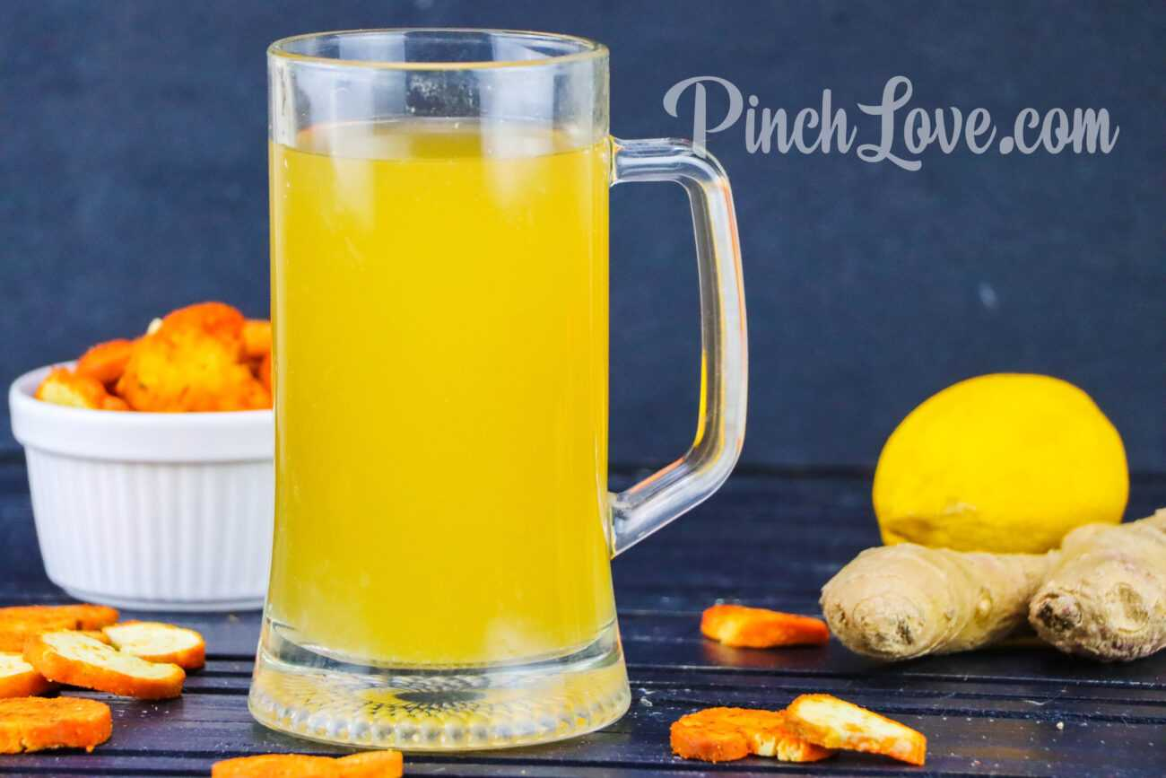 Имбирное пиво с лимоном