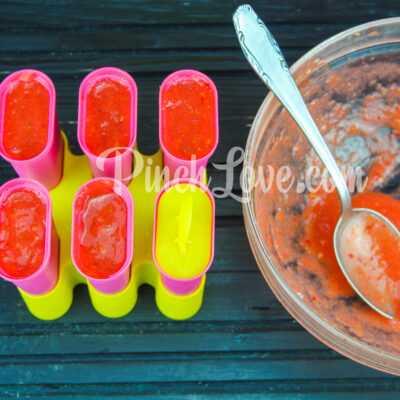 Фруктовый лед из клубники и персика - шаг 6-1